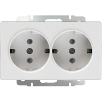 mechanism_double socket white socket with protection1