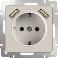 mechanism_ivory socket with usb and protection