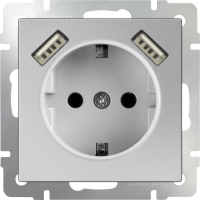 mechanism_silver socket with usb and protection